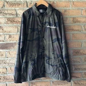 CHOCOLATE | Camo water resistant light fall jacket